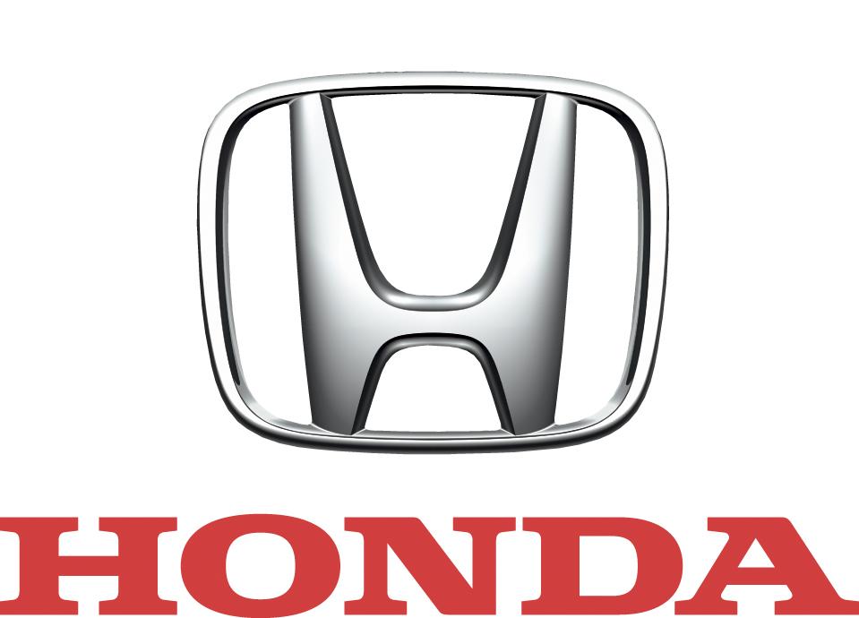 Honda_Mark 3D (silber) darunter Honda Schriftzug (rot) highres